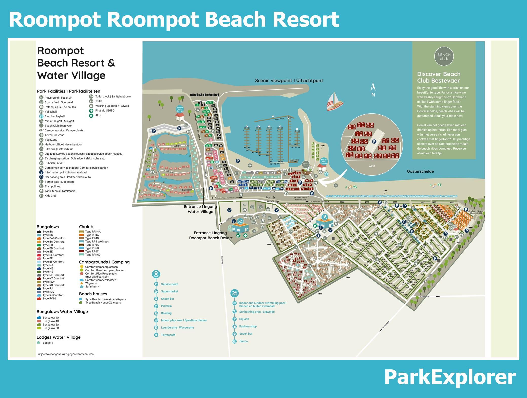 Plan Von Roompot Beach Resort